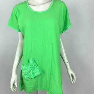 Oh my Gauze! Faith Pear Short Sleeve Tunic Top NWT